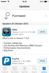 bbm iphone terbaru